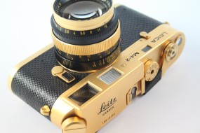 LEICA M4-2 GOLD + SUMMILUX 1,4/50 GOLD-Copy